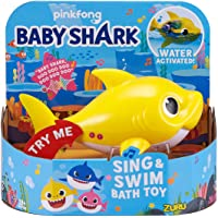 ZURU ROBO ALIVE JUNIOR Baby Shark Battery-Powered Sing and Swim Bath Toy, Random color - First Class Learning Bradford