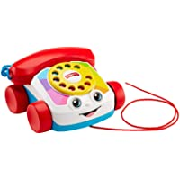 Fisher-Price FGW66 Chatter Telephone, Toddler Pull Along Toy Phone with Numbers and Sounds for 1 Year Old - First Class Learning Bradford