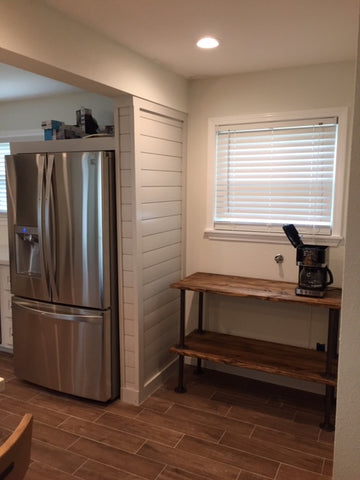 Custom fridge surround and coffee bar