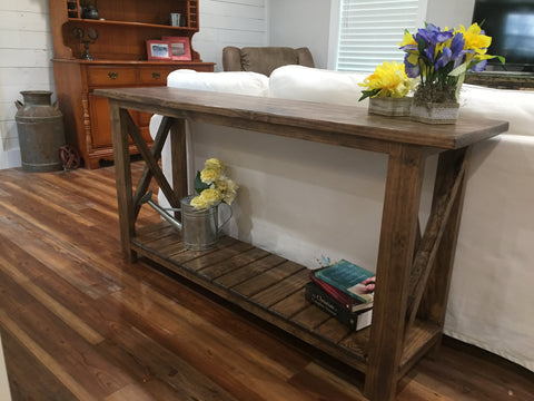 custom solid wood console table
