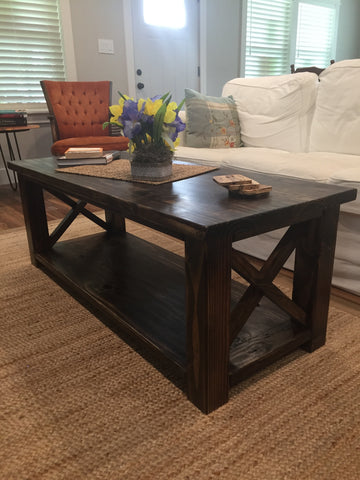 custom solid wood coffee table