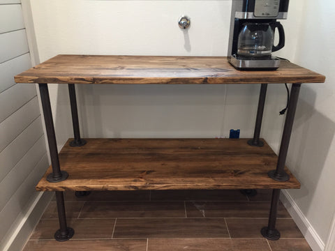 Custom coffee bar stand