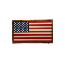 Load image into Gallery viewer, Framed American Flag - Painted is an American flag made of wood, hand painted with a wood frame.