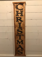 Load image into Gallery viewer, Carved Christmas Wood Sign