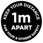 1m Apart - Keep your distance - black - Virus Safety