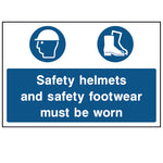 Safety helmets and footwear must be worn - CONS0001 - Virus Safety