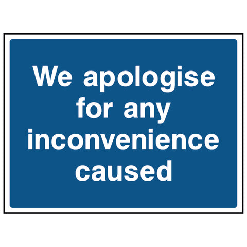 We apologise for any inconvenience caused - CONS0005 - Virus Safety
