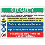 Multi Hazard Site Safety Sign - CONS0009 - Virus Safety