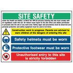Multi Hazard Site Safety Sign - CONS0010 - Virus Safety