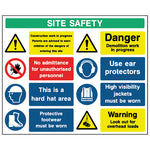 Multi Hazard Site Safety Sign - CONS0011 - Virus Safety