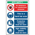 Multi Message Site Safety Sign- CONS0013 - Virus Safety