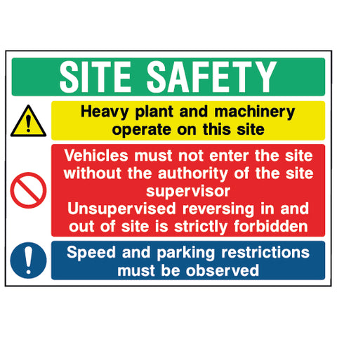 Multi Hazard Site Safety Sign - CONS0018 - Virus Safety