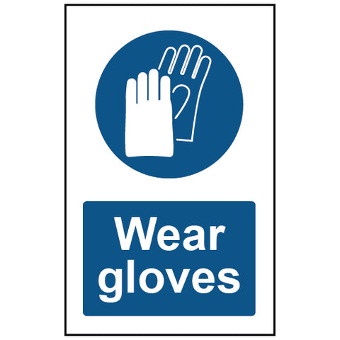 Wear Gloves Mandatory Safety Sign - Virus Safety