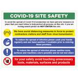 COVID-19 Site Safety Sign - Virus Safety
