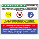 COVID-19 SITE SAFETY SIGN - With your logo - Virus Safety