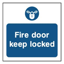 Fire door keep locked - FPRV0022 - Virus Safety