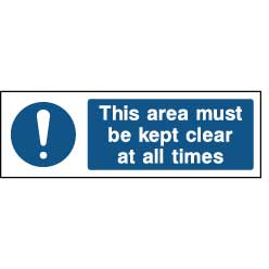 This area must be kept clear at all times - FPRV0033 - Virus Safety