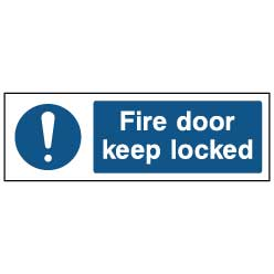 Fire door keep locked - FPRV0038 - Virus Safety