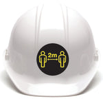 30 Hard Hat Stickers - Social Distancing - 60mm - Virus Safety