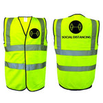 HI VIS VEST - Social distancing awareness - Virus Safety