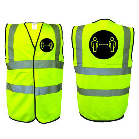 HI VIS VEST - Social distancing awareness - D3 - Virus Safety