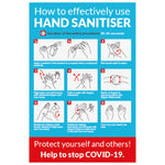How to use hand sanitiser notice - Covid-19-0024 - Virus Safety