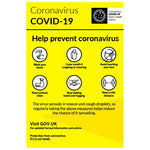 Help prevent coronavirus notice - keep your distance. - Virus Safety