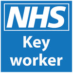 Pair of magnetic removable car graphics for - NHS Key Workers - Virus Safety