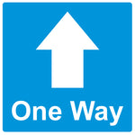 20cm x 20cm - One Way - Graphic - Blue - Virus Safety