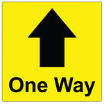 20cm x 20cm - One Way - Graphic - Yellow - Virus Safety