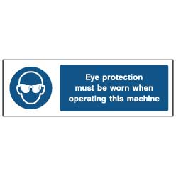 Eye protection signage - PPE0003 - Virus Safety