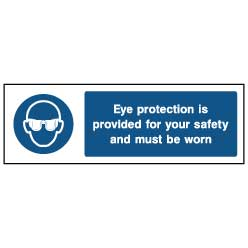 Eye protection is provided - PPE0006 - Virus Safety