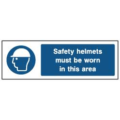 Helmets must be worn - PPE0013 - Virus Safety