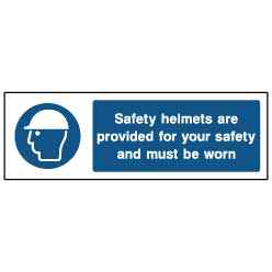 Safety helmets are provided - PPE0014 - Virus Safety