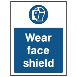 Wear face shield - PPE0025 - Virus Safety