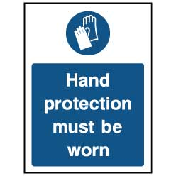 Hand protection must be worn - PPE0026 - Virus Safety