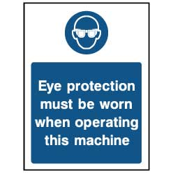 Eye protection must be worn - PPE0027 - Virus Safety