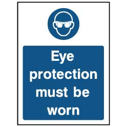 Eye protection must be worn - PPE0028 - Virus Safety