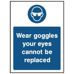 Wear goggles - PPE0029 - Virus Safety