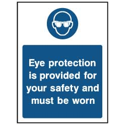 Eye protection is provided - PPE0030 - Virus Safety