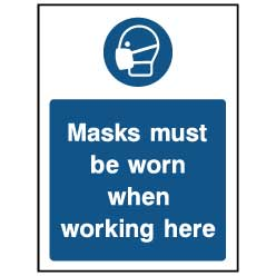 Mask must be worn - PPE0036 - Virus Safety