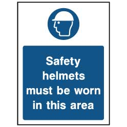 Safety helmets must be worn - PPE0037 - Virus Safety