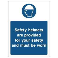 Safety helmets are provided - PPE0038 - Virus Safety