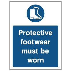 Protective footwear must be worn - PPE0040 - Virus Safety