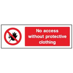 No access without protective clothing  - ACCE0004 - Virus Safety