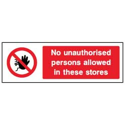 No authorised persons in stores  - ACCE0005 - Virus Safety