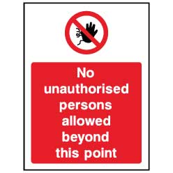 No unauthorised person beyond this point  - ACC0026 - Virus Safety