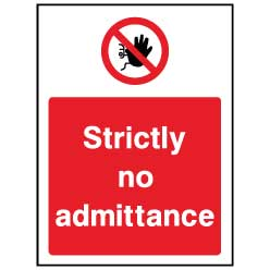 Strictly no admittance  - ACC0027 - Virus Safety