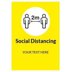 20cm x 30cm - Custom text - Social Distancing - Virus Safety