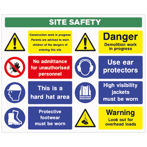 Site Safety Sign D1 - Virus Safety